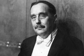 H.G. Wells - famous people buried at sea