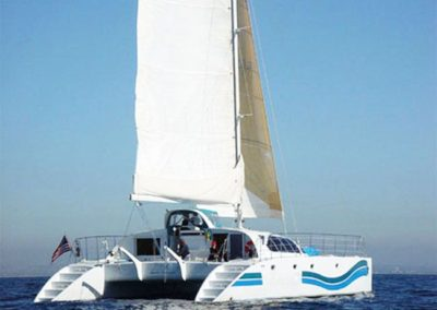 A beautiful yacht and with the the double hulls provides a very smooth and stable voyage.